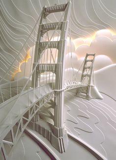 Jeff Nishinaka Paper Sculpture Molded paper visual art. wow