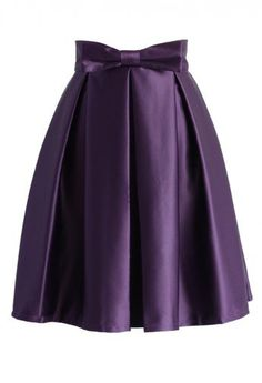 Sweet Your Heart Pleated Skirt in Purple - Skirt - Bottoms - Retro, Indie and Unique Fashion Bow Skirt, Dress Skirt, Skirt Pleated, Midi Skirts, Unique Fashion, Womens Fashion, Modest Fashion, Fashion Fashion, Lila Rock