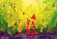 Eusong Lee- Beautiful colors! Very Mary Blair.