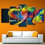 Elephant Wall Art, Elephnat Canvas Print, Elephant Wall Decor, Elephant Painting