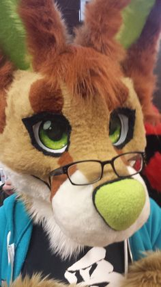 a picture of my most recent fursuit