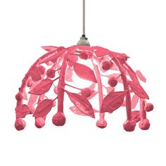 Leafy sprigs with juicy berries arch prettily, adorning a single bulb. Lush and lovely and decorative. Handmade of paper mache by artisans in Mexico. Hand painted with low VOC paint. Takes one 75 watt bulb. Comes hard wired on 6 feet of white cord with a white canopy.