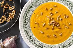 Sweet Potato, Caramelised Garlic & Toasted Pine Nut Soup