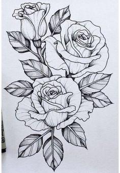 Should add this piece to my skull n rose tattoo .-Sollte dieses Stück zu meinem Schädel n Rose Tattoo hinzufügen … Tatowierung – flower tattoos designs This piece should go with my skull n rose tattoo add tattoo - Tattoo Design Drawings, Flower Tattoo Designs, Art Drawings, Tattoo Flowers, Rose Drawing Tattoo, Rose Drawings, Tattoo Roses, Daisies Tattoo, Rose Tattoo Ideas