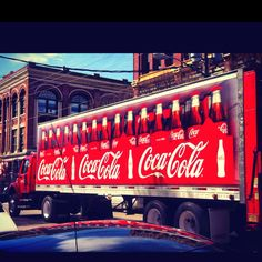 Coca cola truck downtown Port Townsend