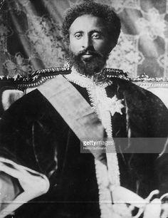 Emperor of Ethiopia Haile Selassie I (1891 - 1975). Also known as Ras Tafari and…