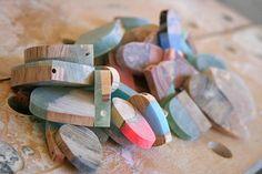Bijuterias de madeira com resina - tutorial