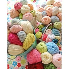 Yarn and project sorting. The fun bit. by Stitch & Yarn, via Flickr