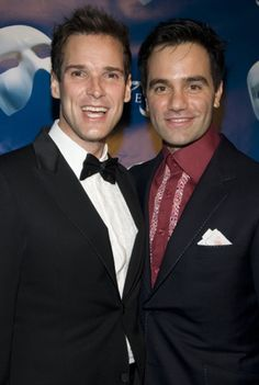 Hugh Panaro and Ramin Karimloo....2 totally awesome Phantoms...and both so different in their portrayal...