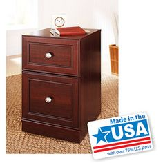 Better Homes and Gardens Ashwood Road Pedestal File Cabinet, Cherry Finish