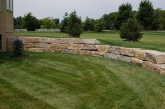 "14"" ledgerock retaining wall #TopekaLandscape"