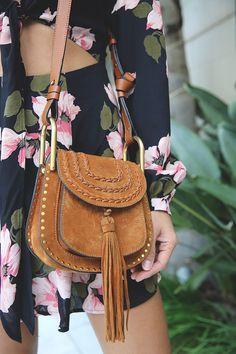 floral print Chloe Bag, Disneybound, Preppy Style, Saddle Bags, Floral Prints, Shoulder Bag, Disney Bounding, Fall 2016, Rapunzel
