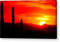 """#Sunset in the #Desert"" acrylic print by Jellybeens Photography"
