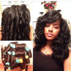 Phenomenal Roller Set And Rollers On Pinterest Short Hairstyles Gunalazisus