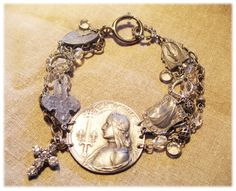our 'maid of orleans' bracelet kit in pewter and rhinestone bling...