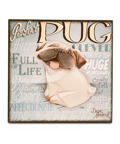 Love this Pug Wall Art on #zulily! #zulilyfinds