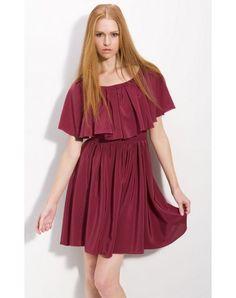Short Bateau Short Sleeve Satin A-line Party Dresses