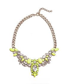 Luxe Gem Necklace in Neon Yellow #shoplately