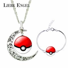 Find More Jewelry Sets Information about LIEBE ENGEL Luxury Glass Cabochon Pokemon Ball Charm Cuff Bracelet Bangle & Moon Pendant Choker Necklace Jewelry Sets for Women,High Quality jewelry box for children,China jewelry paper Suppliers, Cheap set jewelry from LIEBE ENGEL Official Store on Aliexpress.com