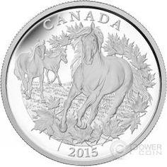 CANADIAN HORSE Half Kilo 1/2 Kilogram Kg Silver Coin 125$ Canada 2015