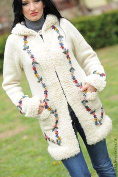 """Вязаный кардиган """"Нарядный"""" - белый,орнамент,вязаное пальто,БЕЛОЕ ПАЛЬТО"""