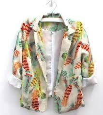 Sweet Child of Mine Girls Feather Print blazer jacket Printed Blazer, Daughter Of God, Feather Print, Blazer Jacket, Kimono Top, Jackets, Outfits, Tops