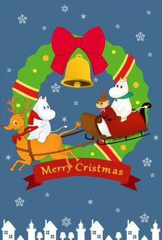 Moomin Xmas Card - FREE Personalisation - Moomins Large Christmas With Envelope Christmas Paper, Christmas Images, Winter Christmas, Xmas, Christmas 2017, Moomin Wallpaper, Les Moomins, Bujo, Moomin Valley