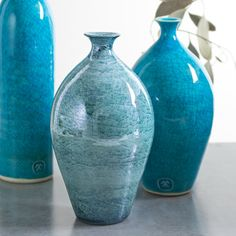 Ceramic Aqua Bottle Vintage inspired handmade pottery clay Blue metallic Fall French Country Wedding Modern Home Decor Hostess gift by blueroompottery on Etsy