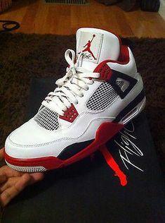 5d8ebf2b968 Air Jordan Retro 4 Fire Red – Nike Air - Mens  Sneakers  Jordans