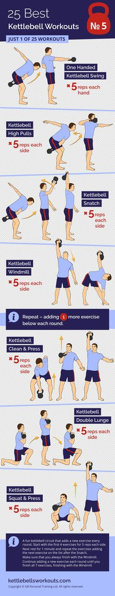 An interesting kettlebell workout that adds an additional kettlebell exercise each round to keep the workout motivational and fun. #kettlebell #kettlebellworkout #fitness #exercise