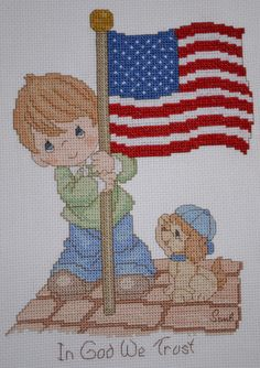 Precious Moments  In God We Trust  FINISHED by mylilsmidget, $25.00