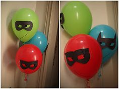 Superhero Birthday Party: Decorations and Games