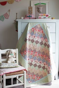 Mint and Sorbet quilt by nanaCompany - so lovely!