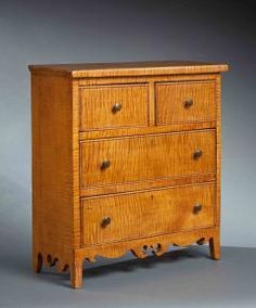 Miniature Curly Maple Chest - 123256