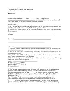 Mobile DJ Contract | By Request Mobile DJ Service Entertainment ...