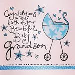 Congratulations On The Birth Of Your Grandson Card - Grandparents Congratulations Card Baby Congratulations Messages, Congratulations Grandma, Congrats On Baby Boy, Anniversary Congratulations, Congratulations Greetings, New Born Baby Card, New Baby Cards, Baby Born, Birthday Wishes