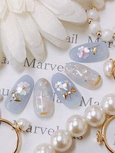 Korean Nail Art, Korean Nails, Japanese Nail Design, Japanese Nail Art, Summer Acrylic Nails, Cute Acrylic Nails, Pastel Nails, Pretty Nail Art, Cute Nail Art