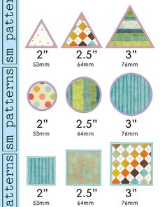 Machine Embroidery Design  Small Shape Appliques by smpatterns, $2.50