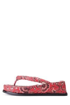 Jeffrey Campbell Shoes PAGODA Platforms in Red Brocade