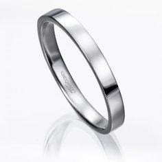 Alianza de boda PLANA DE PLATINO. #Alianza de #boda en platino fino con ancho de 3 milímetros.