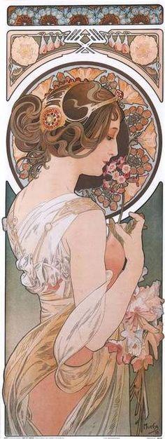 Art nouveau graphic, color art