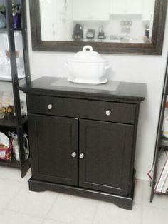 my new small buffet cabnet... just the right size for our kitchen