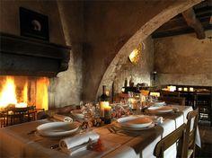 Restaurant at the Albergo Diffuso Sextantio in Santo Stefano di Sessanio, Italy designed by Oriano Associati Architetti
