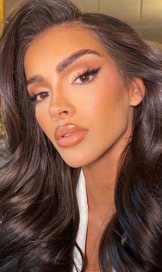 Natural Glam Makeup, Elegant Makeup, Glam Makeup Look, Nude Makeup, Pretty Makeup, Skin Makeup, Glamorous Makeup, Black Girl Makeup, Natural Prom Makeup For Brown Eyes