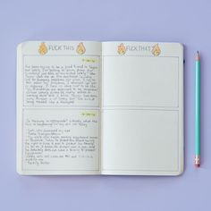 Journaling has been shown to help with your mental well-being, as BuzzFeed has previously reported, but there's a fine line between what actually helps you and what's just harmful rumination. So limiting yourself — whether that means doing a half-page setup like this, or giving yourself a full page — so you have a beginning and an end point will help you not obsess over it.