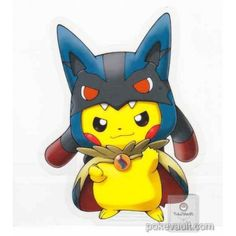 Pokemon Center 2015 Poncho Pikachu Series #1 Mega Lucario Large Sticker