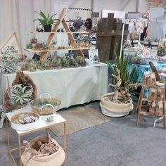 We are all set up Nashville, with some old favorites and new terrarium designs (even a few copies of our new book Modern a terrarium Studio)! #theZenSucculent #ModernTerrariumStudio #pfsummer