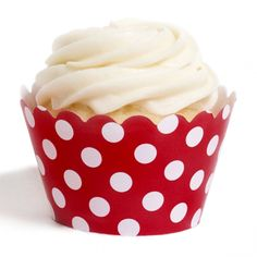 Red Polka Dots Cupcake Wrappers [DMC6605] : Wholesale Wedding Supplies, Discount Wedding Favors, Party Favors, and Bulk Event Supplies