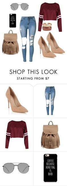 """Hello world <3"" by dzenita-2190 ❤ liked on Polyvore featuring Lipsy, Elizabeth and James and Rosantica"