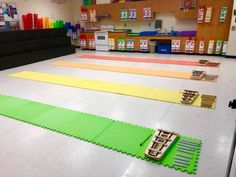 """My 2nd graders enjoyed singing """"My Paddles Keen and Bright"""" while rowing their colorful canoes with boomwhacker oars today in class! Colored foam pieces from Amazon!"""